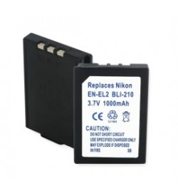Nikon BP-NKL2, DDEN-EL2 3.7V 900mAh batteries
