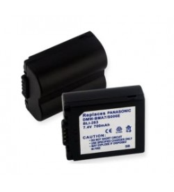 Panasonic CGA-S006, DMW-BMA7 7.4V 710mAh batteries