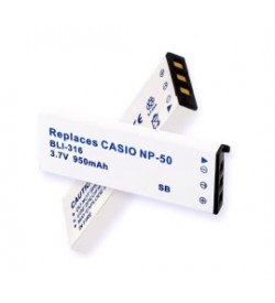 Casio NP-50, NP-50DBA 3.7V 1000mAh replacement batteries