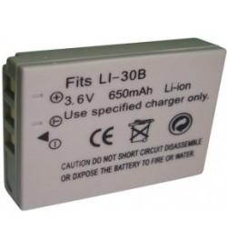 Olympus LI-30B 3.6V 650mAh replacement batteries